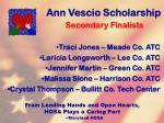 ann vescio scholarship124