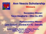 ann vescio scholarship126
