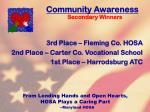 community awareness80