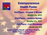extemporaneous health poster73