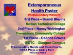 extemporaneous health poster74