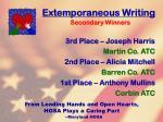 extemporaneous writing70
