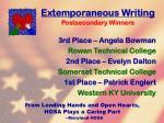 extemporaneous writing71