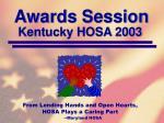 kentucky hosa 2003