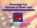 knowledge test concepts of health care