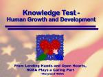 knowledge test human growth and development