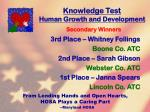 knowledge test human growth and development21