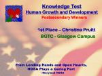 knowledge test human growth and development22