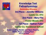 knowledge test pathophysiology30