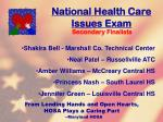 national health care issues exam115