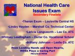 national health care issues exam116