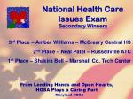 national health care issues exam117