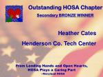 outstanding hosa chapter108