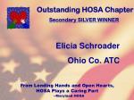 outstanding hosa chapter109