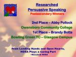 researched persuasive speaking77