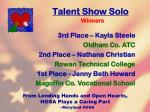 talent show solo