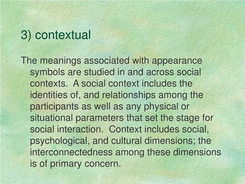 3) contextual