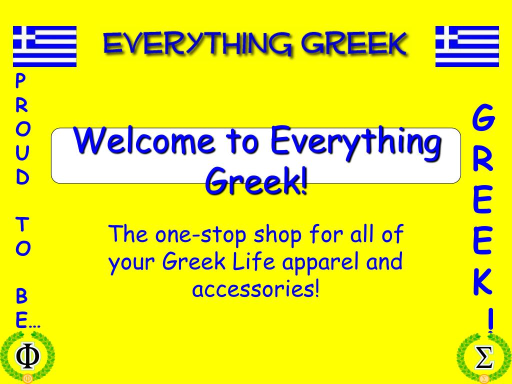 welcome to everything greek l.