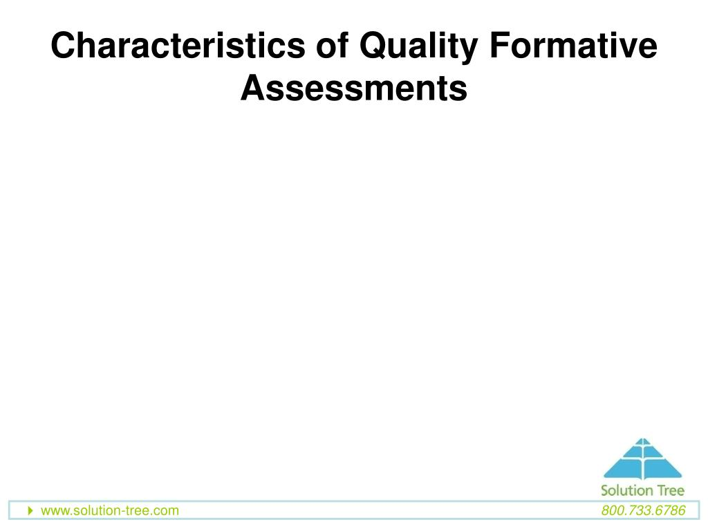 Characteristics of Quality Formative Assessments