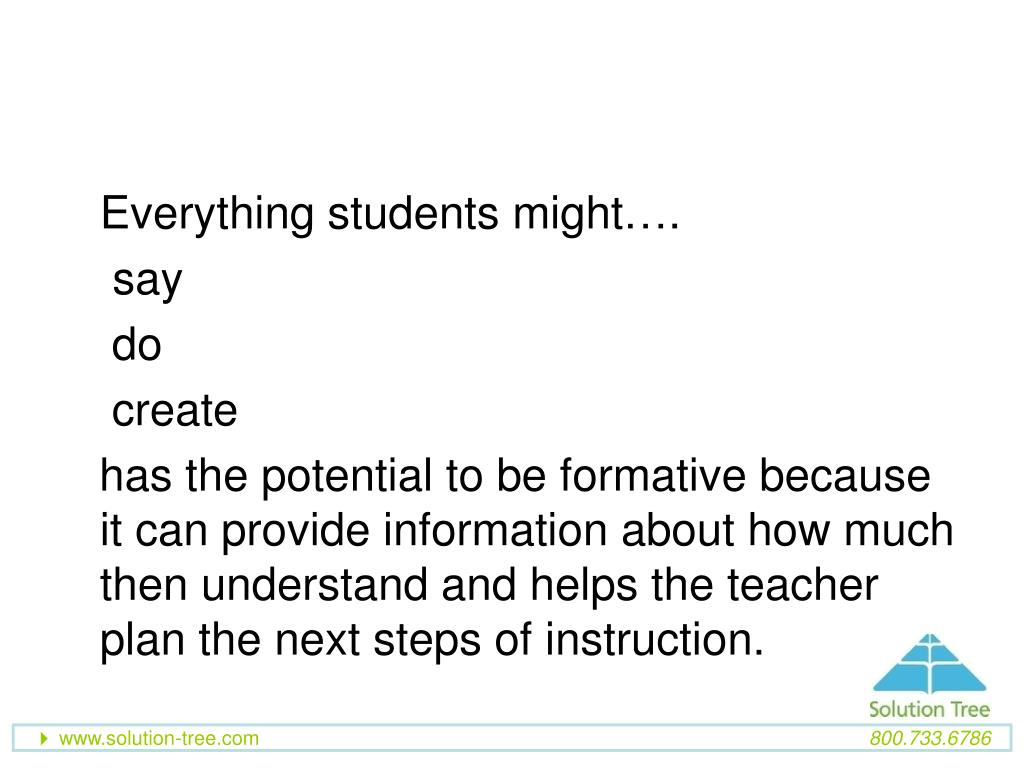 Everything students might….