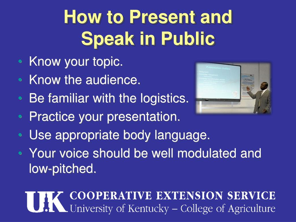 How to Present and