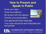 how to present and speak in public