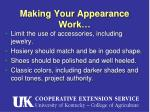 making your appearance work8