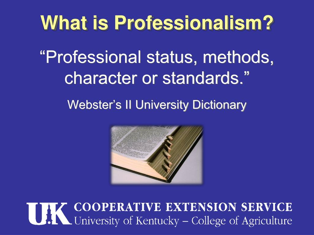 What is Professionalism?