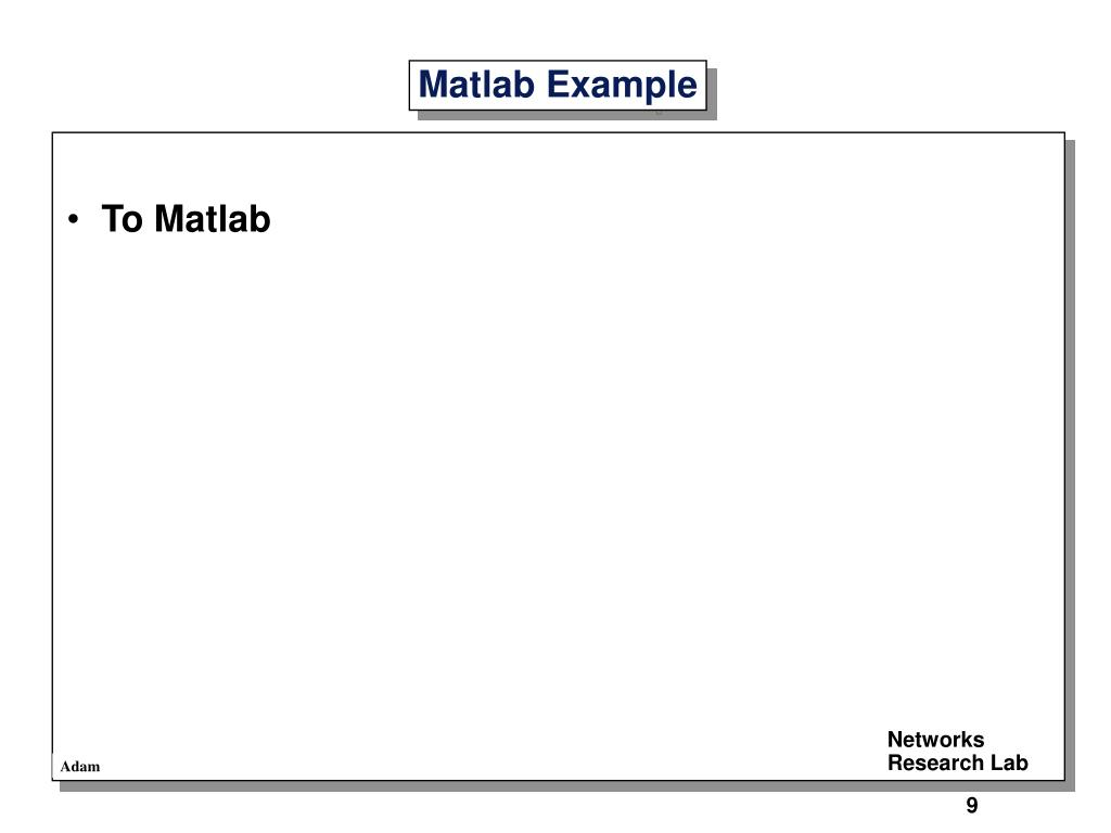 To Matlab