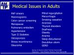 medical issues in adults