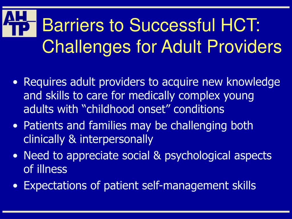 Barriers to Successful HCT: