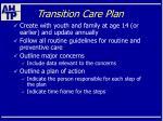 transition care plan