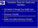 transition tools for youth and families48