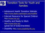 transition tools for youth and families49