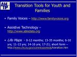 transition tools for youth and families50