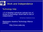 work and independence62