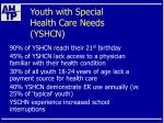 youth with special health care needs yshcn6