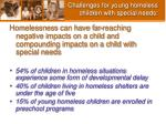 challenges for young homeless children with special needs