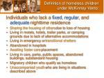 definition of homeless children under mckinney vento