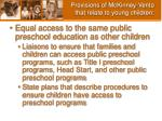 provisions of mckinney vento that relate to young children