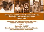 serving young children with disabilities who are homeless idea and mckinney vento hand in hand