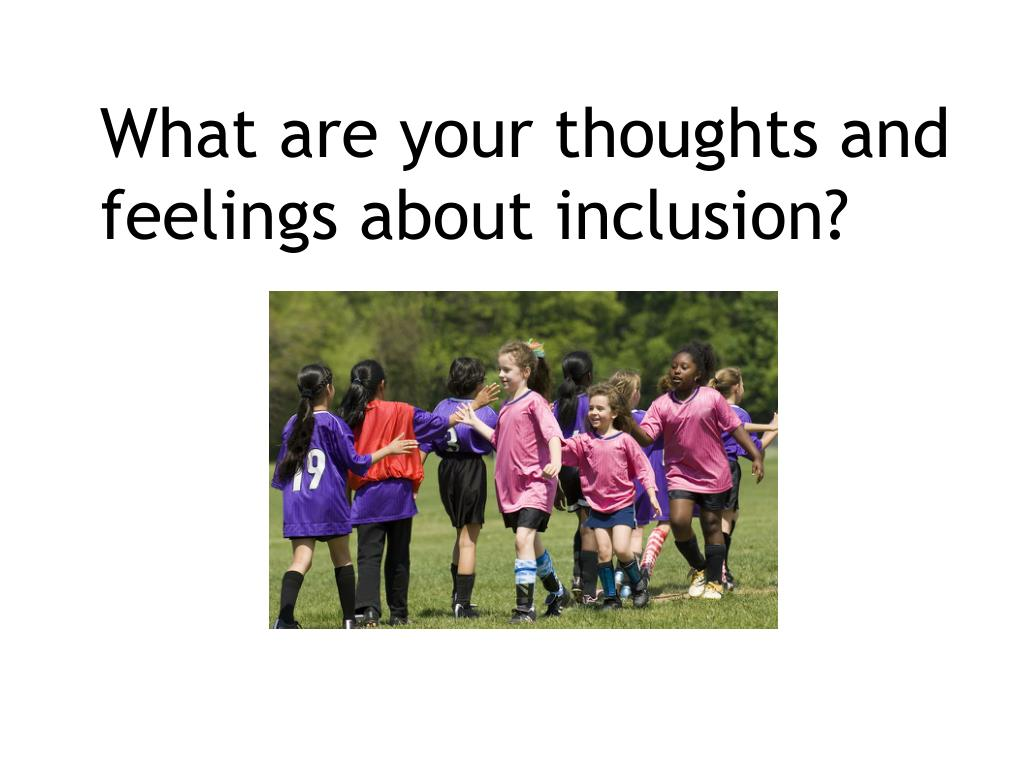What are your thoughts and feelings about inclusion?