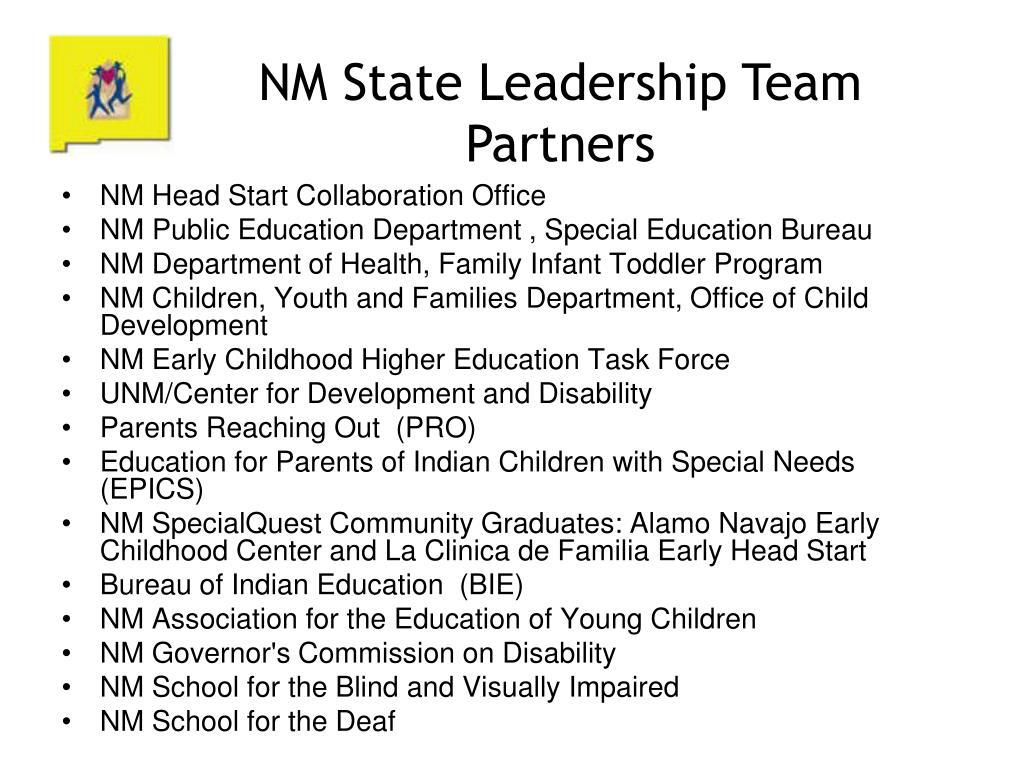 NM State Leadership Team Partners