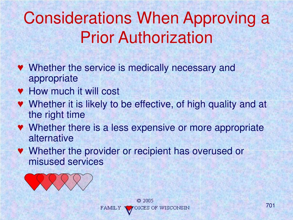 Considerations When Approving a Prior Authorization