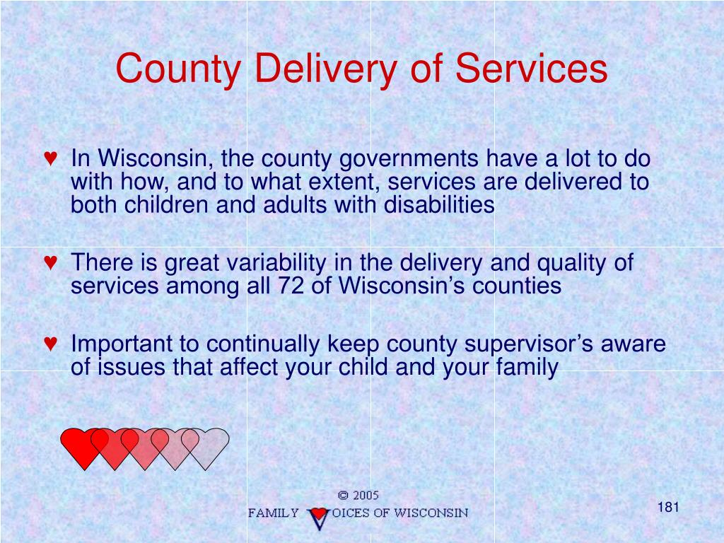County Delivery of Services