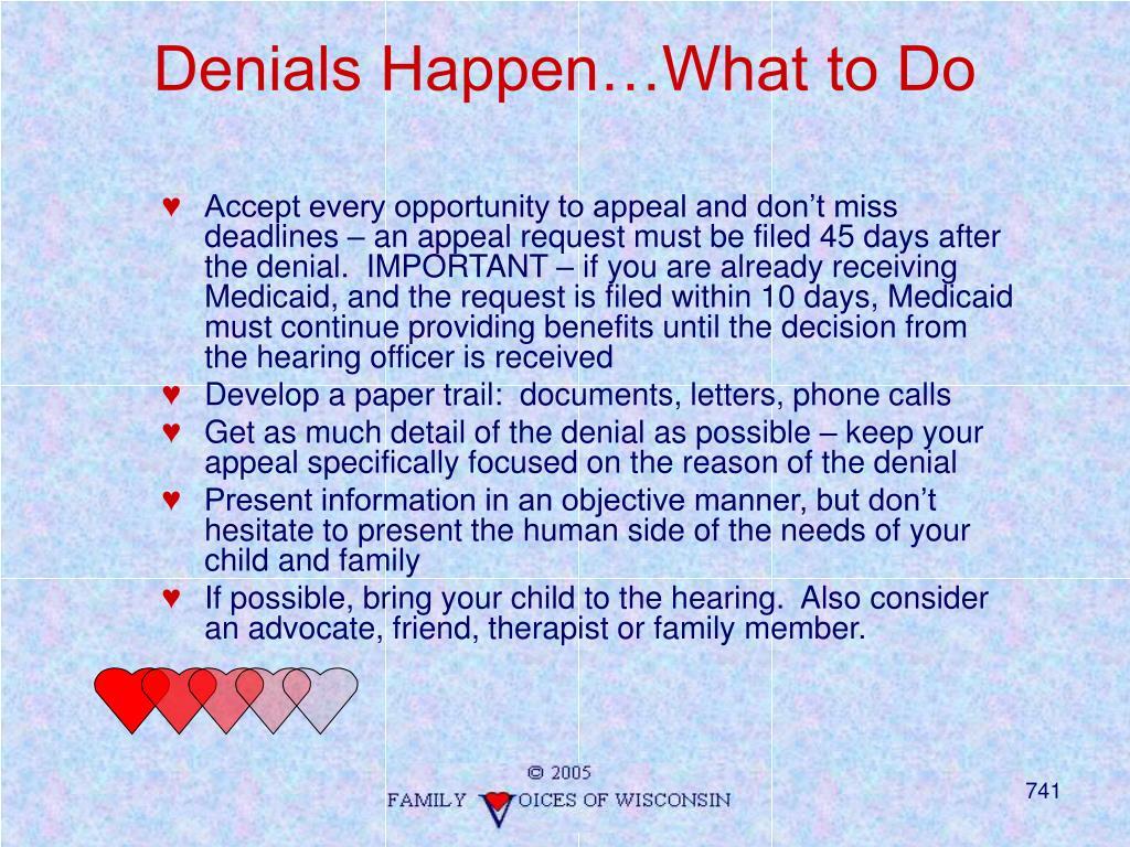 Denials Happen…What to Do