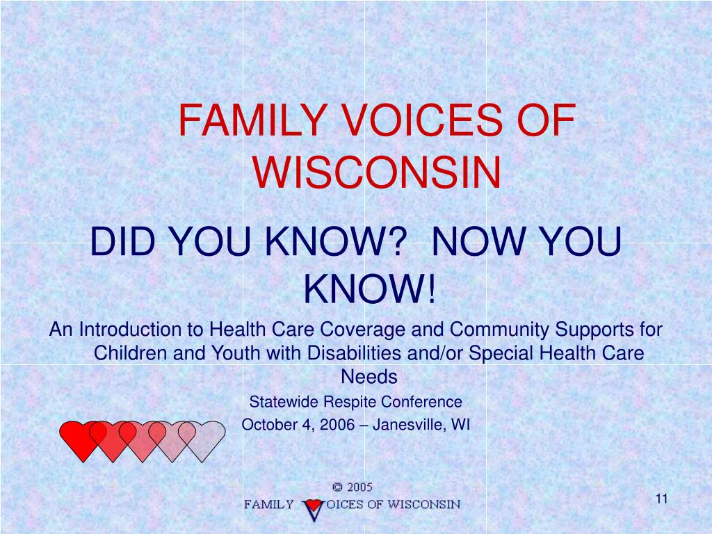 family voices of wisconsin l.