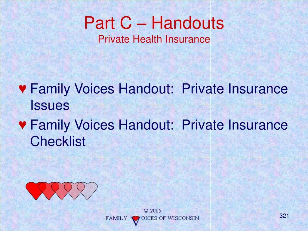 Part C – Handouts