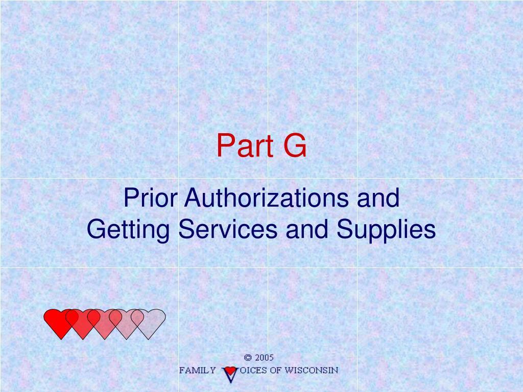Part G