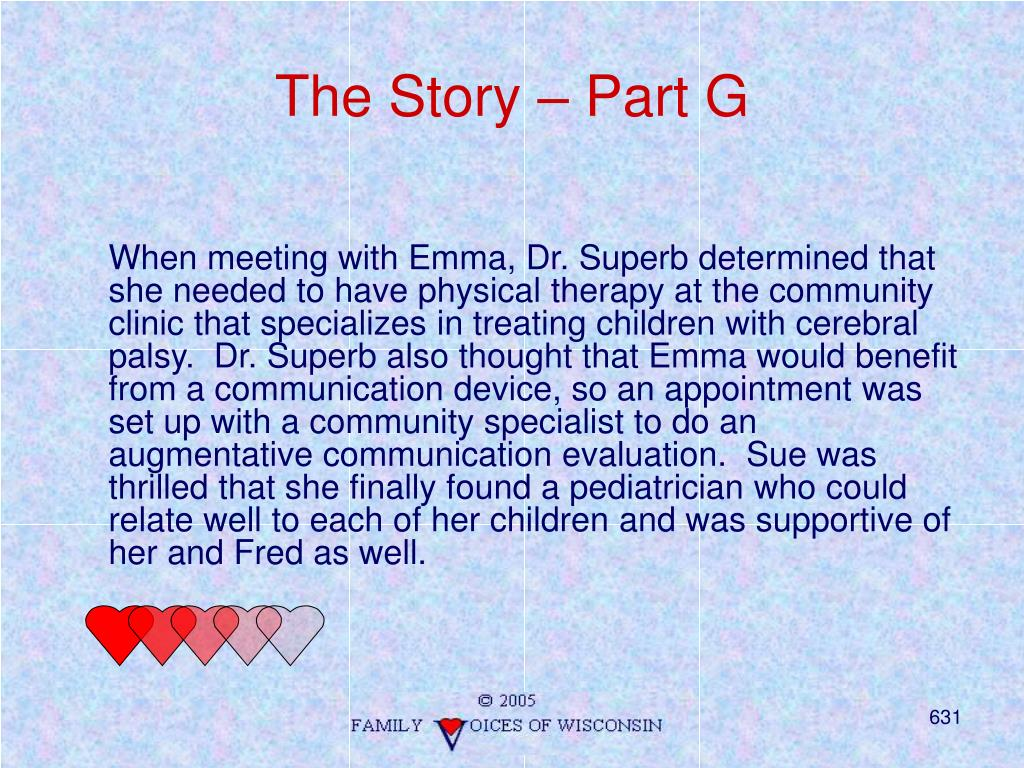 The Story – Part G
